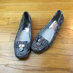 Michael Kors  Hamilton Snake Skin Loafers 6.5